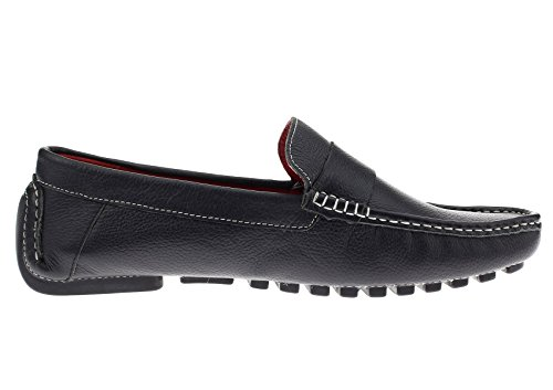Original Shoes NATAZZI Air Mens Driving Canoe Grant LN Loafer On Leather Black LUCIANO Slip pqF0Wwx8
