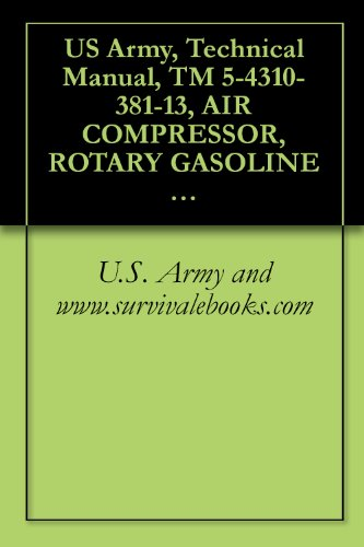 US Army, Technical Manual, TM 5-4310-381-13, AIR COMPRESSOR, ROTARY GASOLINE ENGINE DRIVEN 60 CFM, 6. C&H MODEL 20-920, (NSN 4310-01-248-1661), military manauals, special forces