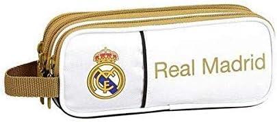 Real Madrid CF Estuche portatodo Triple 3 Cremalleras Escolar: Amazon.es: Juguetes y juegos