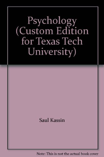 Psychology (Custom Edition for Texas Tech University)