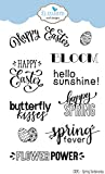 Elizabeth Craft Designs CS091 Spring Sentiments Clear Stamps, Multicolor