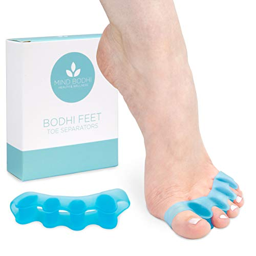 Mind Bodhi Toe Separators to Correct Bunions and Restore Toes to Their Natural Shape (Bunion Corrector Toe Spacers Toe Straightener Toe Stretcher Big Toe Correctors) Universal Size - Blue