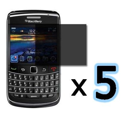 ***5PACK*** Privacy Screen Protector for Blackberry Bold 9700, Onyx 9700, 9020, 9780