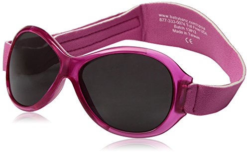 Baby BanZ: Retro BanZ - Baby: Flamingo Pink | 100% UV Protection | Age: 0-2 - Toddler Uk Sunglasses