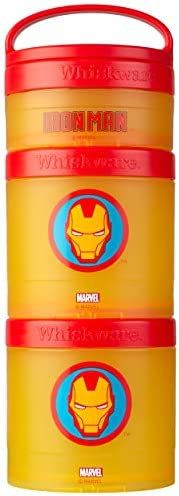 Whiskware Marvel Stackable Snack Pack, Iron Man