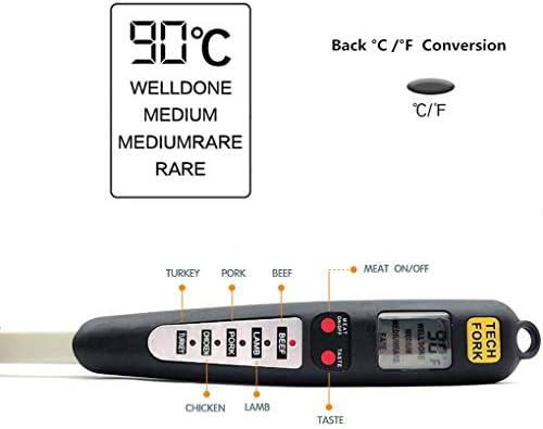 iMiMi Digitales Thermometer für Grillen, Fleisch, Kochen, mit Sofortablesung, Voreinstellung mit korrekter Kochtemperatur, Bereiter Alarm