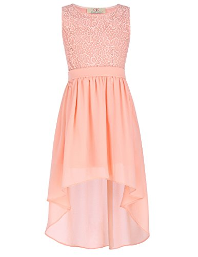 Amazon.com: TrendyFashion Chiffon High Low Party Dresses For Girls 6-7yrs CL8976-2: Clothing