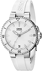 Oris Women's 73376524156RS Divers Analog Display Swiss Automatic White Watch