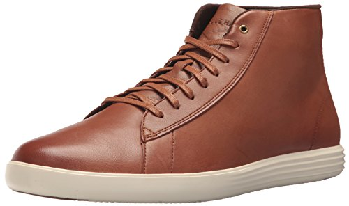 Cole Haan Men's Grand Crosscourt High Top Sneaker, Woodbury Leather, 11.5 Medium - Top Brown High