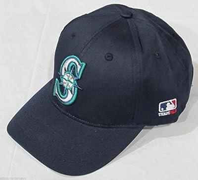 MLB ADULT Seattle MARINERS Navy Blue Hat Cap Adjustable Velcro TWILL