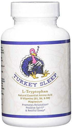 Turkey Sleep - Tryptophan Sleep Aid with B Vitamins and Magnesium for Healthy Deep Sleep - Anti-Anxiety, Calm Mood, Restful Sleep - Vitamins B5, B6, B9 Folic Acid - Boosts Serotonin and Melatonin