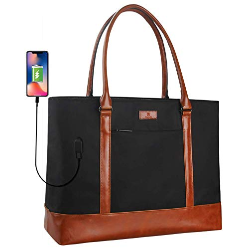 MONSTINA-Woman-Laptop-Tote-BagUSB-Teacher-Bag-Large-Work-Bag-Purse-Fits-156-in-Laptop