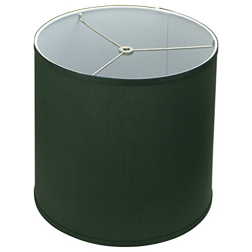 FenchelShades.com 12'' Top Diameter x 13'' Bottom Diameter 12'' Slant Height Lampshade Retro Rustic Vintage Hardback Liner USA Made (Hunter Green) by FenchelShades.com