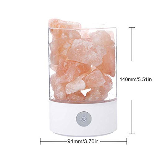 Nanle Himalayan Salt Lamp, Natural Crystal Salt Light with Touch Dimmer Switch LED Multicolour Changing Bulb for Bedroom Office Decoration and Air Purifying (Color : Black) by Nanle (Image #6)
