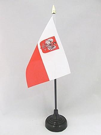 flaggen AZ FLAG TISCHFLAGGE Polen MIT Adler 21x14cm