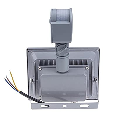 Warm White, 30W : IP65 Waterproof 10W 20W 30W 50W Led Floodlight PIR Outdoor lighting Project Lamp PIR LED Flood light Motion detective Sensor