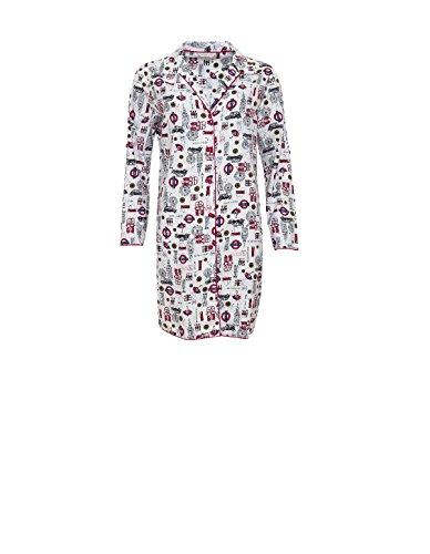 Sleep Shirt Nighty 3611 Nightshirt Cyberjammies Women's Lily White Motif wTTpF4xq
