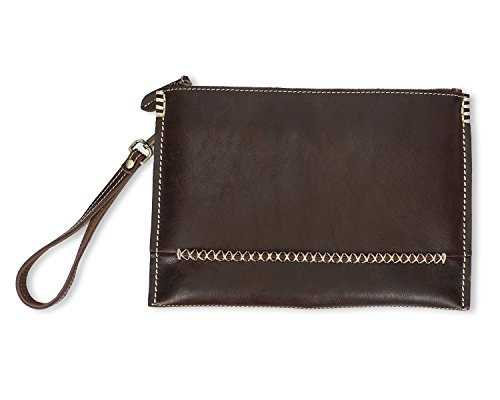 Da Clip Brown Mano In Fatta Uomo Money Pochette Pelle A Rzl vRtxg