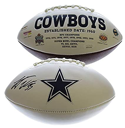 7cb1bfbccc0 Leighton Vander Esch Dallas Cowboys Autographed Signed White Panel Football  - JSA Authentic