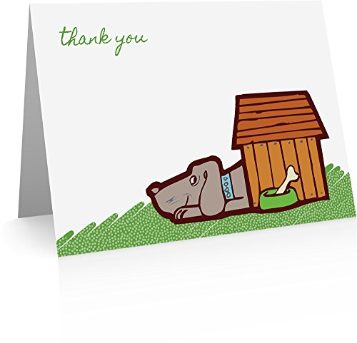 Dog Thank You Cards (24 Foldover Cards and Envelopes)