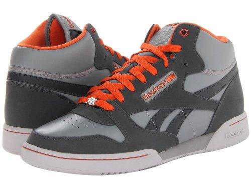 Reebok Men's CL Exertion Mid Sneaker Rivet Grey Orange Steel 11
