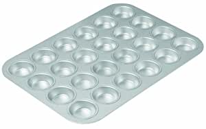 Chicago Metallic Commercial II Traditional Uncoated 24-cup Mini Muffin Pan