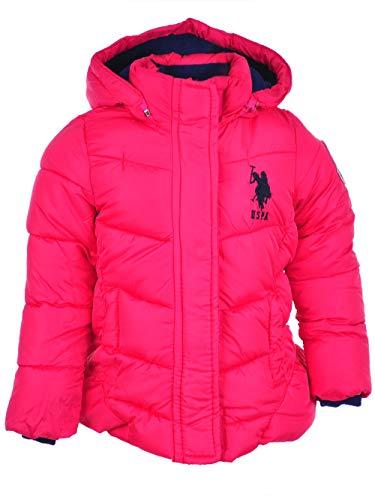 U.S. Polo Assn Baby Girls' Peplum Bubble Jacket, Fuchsia Purple, 12M