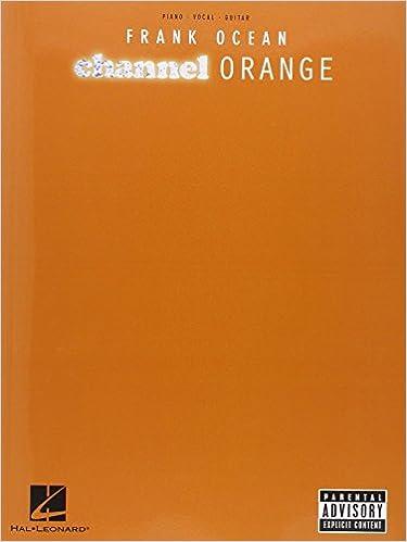 Frank Ocean Channel Orange Pianovocalguitar Frank Ocean