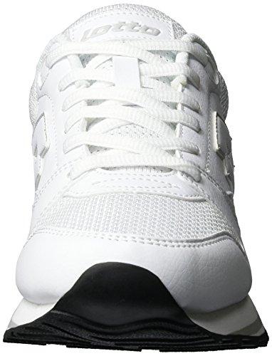 Lotto Trainer Ix Lth W, Zapatillas para Mujer Blanco (Wht/gry Lun)