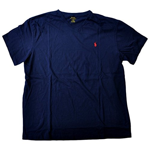 Polo Ralph Lauren Men V-Neck Pony Logo T-Shirt (L, Ink)