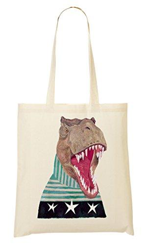 Dinosaur In Sweater Bolso De Mano Bolsa De La Compra
