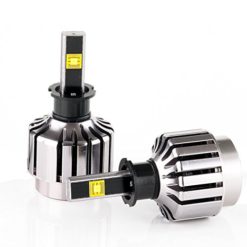 IIIPILOTING New Philips Lightsource LED Headlight H3 6000k 30W 3000LM Waterproof Can-bus Bulbs Set