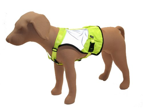 Stunt Puppy Go Dog Glo High Visibility Dog Vest, M/L
