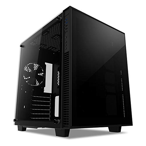 anidees AI Crystal Cube V2 Dual Chamber Tempered Glass EATX/ATX PC Gaming Case Lite Version – Black AI-CL-Cube-Lite2