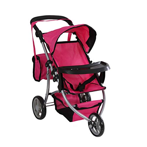 (Mommy & me Doll STROLLER with FREE carriage bag #9377B-T)
