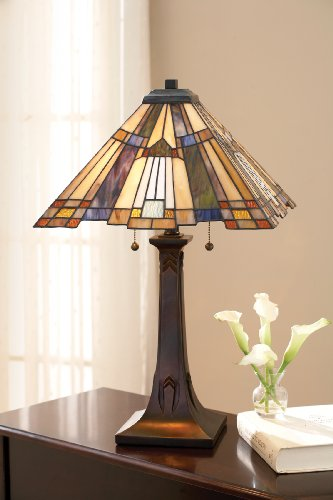 Inglenook Light 2 (Quoizel TFT16191A1VA 2-Light Inglenook Table Lamp, Small, Valiant Bronze)