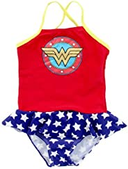 Wonder Woman Little Girls' One Piece Skirted (Toddler) - Red/
