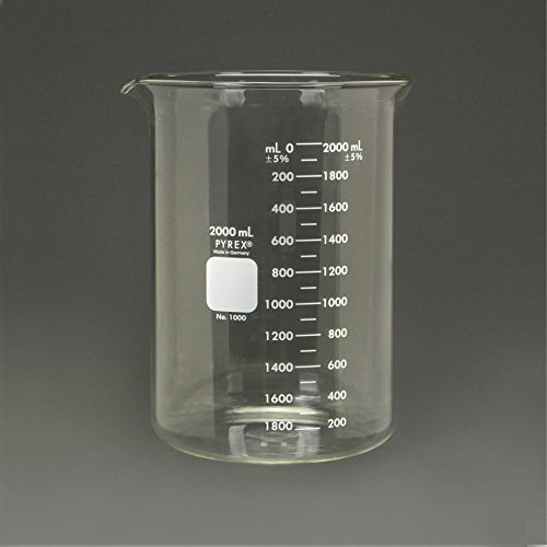 Pyrex Glass Griffin Beaker, Low Form, Measuring, 2,000 - Griffin Beakers Pyrex