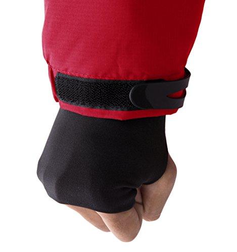 para Rojo Senderismo Mujer de con Forro Contraiento Chaqueta Esquí Impermeable Polar Wantdo xTPfzBZwB