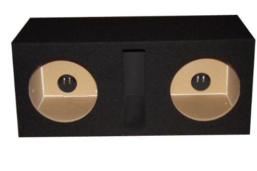 Slot Vented Sub Bass Hatchback Speaker Box with Labyrinth Power Port (MDF) ()