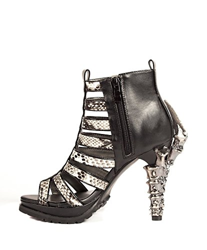 Hades Shoes - Leora Fashion Mixed with Goth Inspired Heels Black 5vAPt