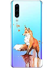 Oihxse Compatible con Huawei Nova 6SE Funda Suave Gel TPU Silicona Cristal Transparente Carcasa Acuarela Animal Pintado Patrón Protectora Estuche Bumper Caso Case (B9)