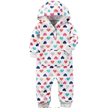 Carter s White Heart Printed Henley Hooded Coverall (6M)