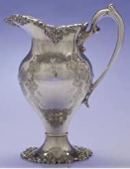 INTERNATIONAL SILVER VINTAGE CHASED Silverplated Water Pitcher Jug