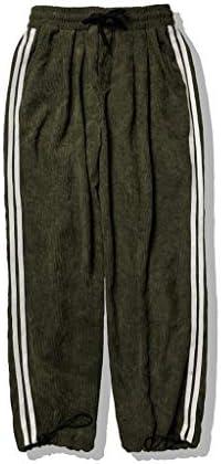メンズファッションブリーフスタイルコーデュロイストライプカジュアルストラップズボンパンツ