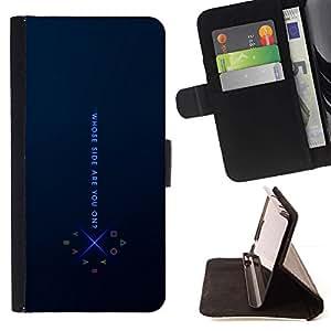 Momo Phone Case / Flip Funda de Cuero Case Cover - De que lado estas;;;;;;;; - Samsung Galaxy Note 5 5th N9200
