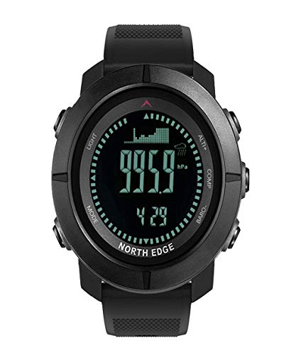 Vacally Multifunctional Mens Military Sports Watch Bracelet Digital Outdoor Watch Waterproof Compass Altimeter for Swimming Running Football Training