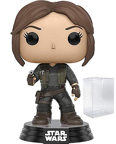 Funko Pop! Star Wars: Rogue One - Jyn Erso Vinyl Bobble-Head Figure (Includes Pop Box Protector Case)