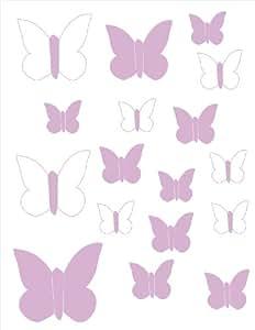 Aratextil. Vinilos decorativos Mariposas Lila