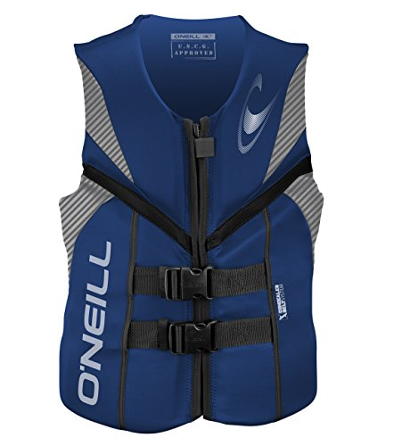 Uscg Life Jackets - O'Neill   Men's Reactor USCG Life Vest,Pacific/Lunar/Black,Large